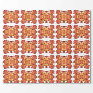 悪賢い炎の幾何学的な包装紙 ラッピングペーパー