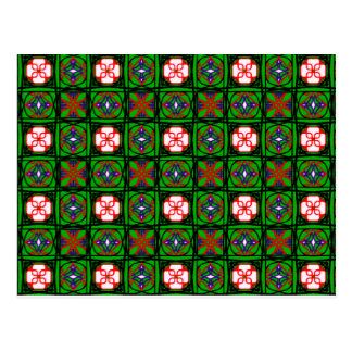 悪賢い織物パターン ポストカード