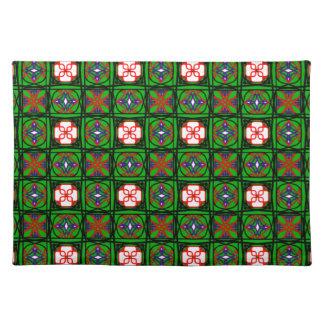 悪賢い織物パターン ランチョンマット