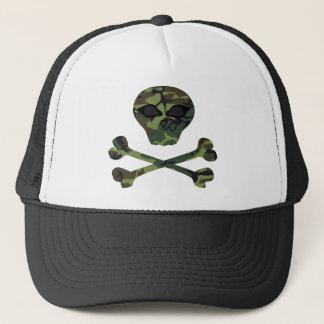 悪賢い迷彩柄のどくろ印の帽子 キャップ