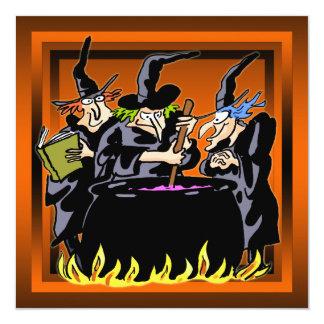 悪賢い魔法使いのハローウィンパーティの招待状 カード