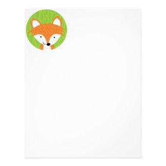悪賢く小さいFox-の森林友人 レターヘッド