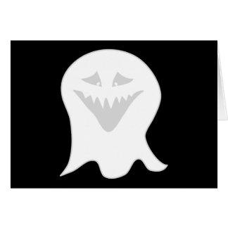 悪鬼の幽霊。 灰色および白 カード