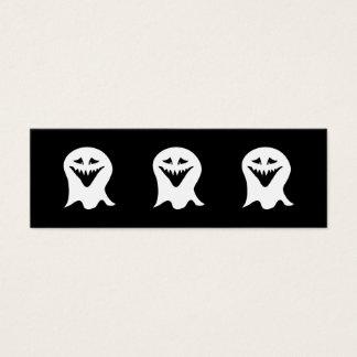 悪鬼の幽霊。 白黒。 スキニー名刺