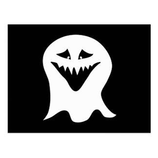 悪鬼の幽霊。 白黒。 ポストカード
