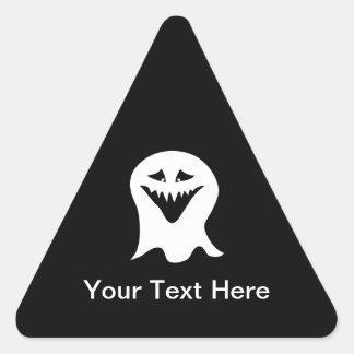 悪鬼の幽霊。 白黒。 三角形シール