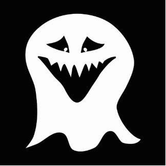 悪鬼の幽霊。 白黒。 写真彫刻キーホルダー