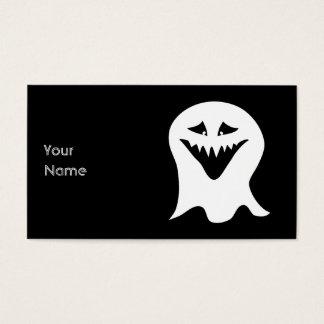 悪鬼の幽霊。 白黒。 名刺