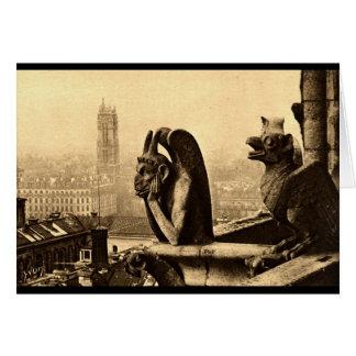 悪鬼Notre Dameのパリフランスの1912年のヴィンテージ カード
