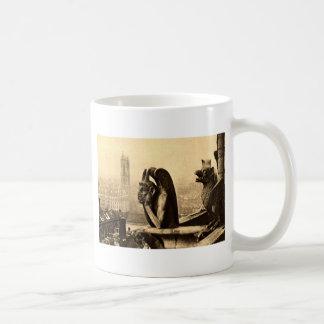 悪鬼Notre Dameのパリフランスの1912年のヴィンテージ コーヒーマグカップ