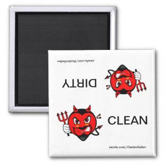 悪魔のきれいな汚れた食洗機の磁石 マグネット