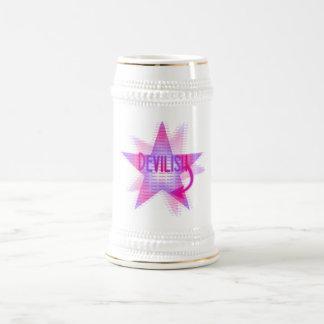 悪魔のようい星-ステイン ビールジョッキ