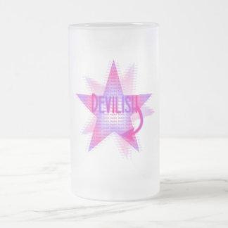 悪魔のようい星-曇らされたガラスステイン フロストグラスビールジョッキ