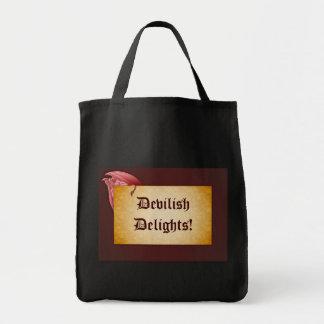 悪魔のようい歓喜の鬼のトリック・オア・トリートのバッグ トートバッグ