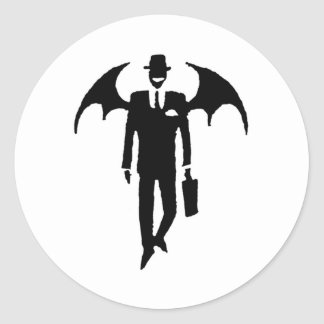 悪魔のビジネスマン ラウンドシール