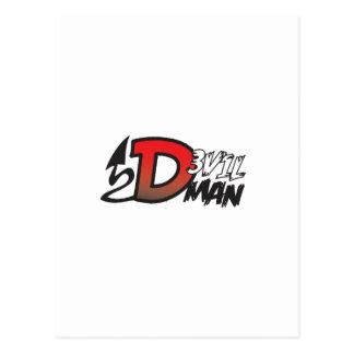 悪魔の人のロゴ ポストカード