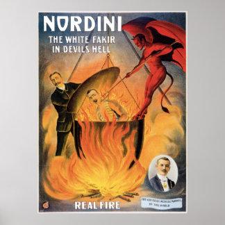 悪魔の地獄のヴィンテージの魔法の行為のNordini~ ポスター