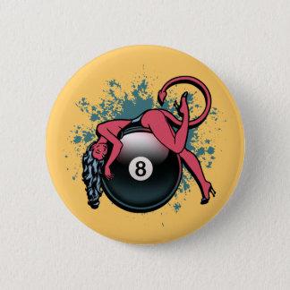 悪魔の女の子の8ボール 缶バッジ