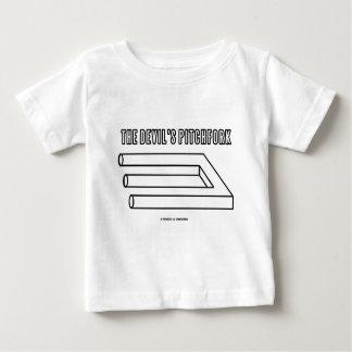 悪魔の干し草用フォーク(目の錯覚) ベビーTシャツ