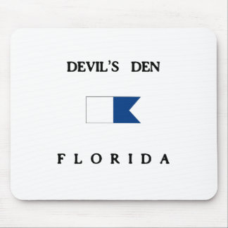 悪魔の洞穴のフロリダのアルファ飛び込みの旗 マウスパッド