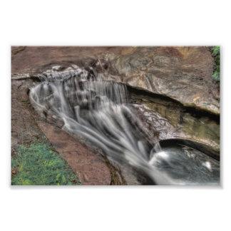悪魔の浴槽、Hockingの丘の州立公園、オハイオ州 フォトプリント