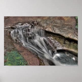 悪魔の浴槽、Hockingの丘の州立公園、オハイオ州 ポスター