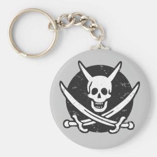 悪魔の海賊- bw キーホルダー