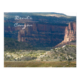 悪魔の渓谷、Fruita、コロラド州 ポストカード