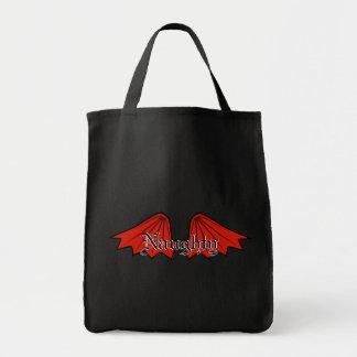 悪魔の翼のトートバック トートバッグ