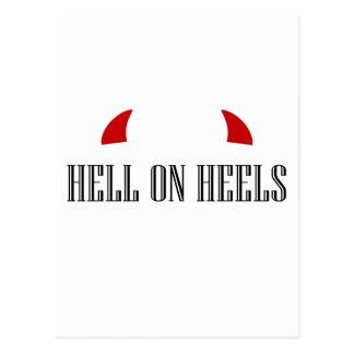 悪魔の角が付いているかかとの地獄 ポストカード
