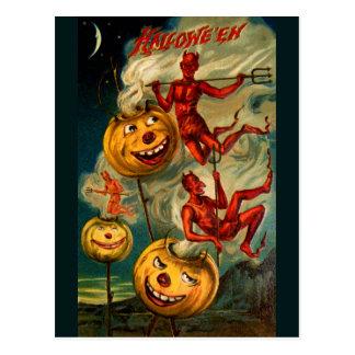 悪魔はジャックO'Lanternsを緩和します ポストカード