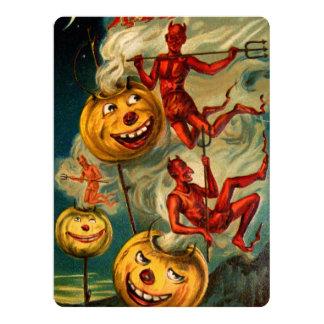悪魔はジャックO'Lanternsを緩和します 16.5 X 22.2 インビテーションカード
