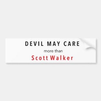 悪魔はスコットの歩行者よりもっと気になるかもしれません バンパーステッカー