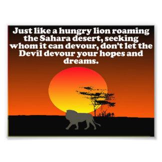悪魔をあなたの予想をむさぼり食うことを許可しないで下さい! フォトプリント