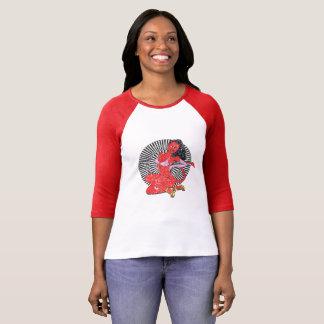 悪魔女の子(ヴィンテージの版。) Tシャツ