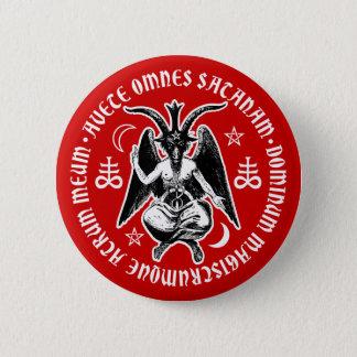 悪魔的なヤギはBaphometの先頭に立ちました 5.7cm 丸型バッジ