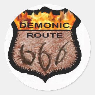 悪魔的なルート666 ラウンドシール
