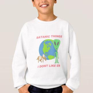 悪魔的な事私はそれらを-平らな地球好みません スウェットシャツ