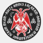 悪魔的な十字及び五芒星のBaphomet ラウンドシール