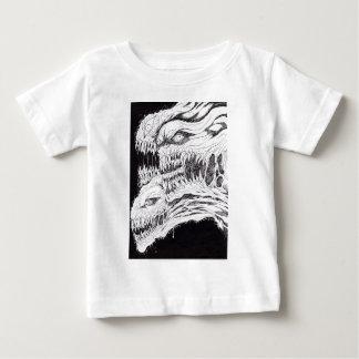 悪魔的な恐怖イラストレーション ベビーTシャツ