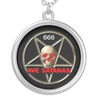 、悪魔的大きい、ネックレスのあたりでめっきされる銀製 シルバープレートネックレス