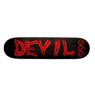 悪魔666のスケートボード 18.4CM ミニスケートボードデッキ