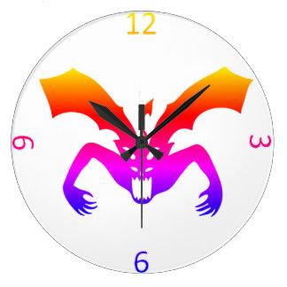 悪魔 ラージ壁時計