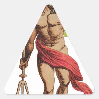 悪魔 三角形シール