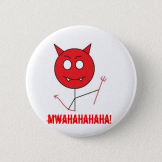 悪魔、mwahahahaha! 5.7cm 丸型バッジ
