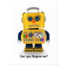 悲しいおもちゃのロボット ポストカード