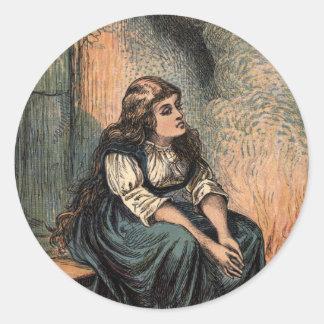 悲しいがあっているヴィンテージシンデレラ ラウンドシール