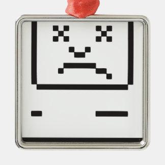 悲しいコンピュータアイコン メタルオーナメント