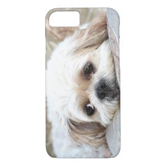 悲しいシーズー(犬) Tzuは直面します iPhone 8/7ケース