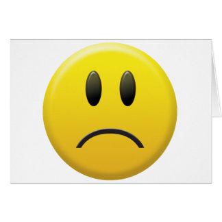 悲しいスマイリーフェイス カード